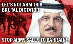 Stop arms sales to Bahrain