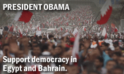 Tell President Obama: Support Democracy and Human Rights in Egypt and Bahrain!