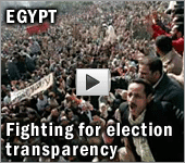 Egypt fighting for election transparency