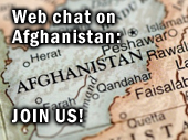 Join our experts for a web chat on Afghanistan image via istock photo