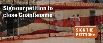 Sign our petition to close Guantanamo